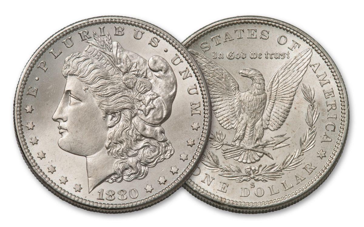 1878-1904_Morgan_Silver_Dollars_AU - coin shop in lutz