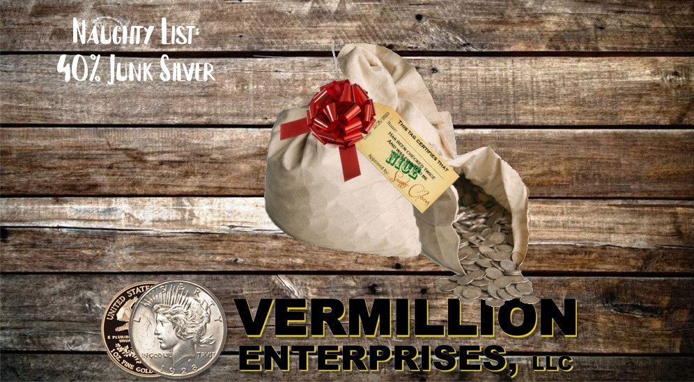 Vermillion Enterprises - Holiday Gift Buying Guide! Buy Silver & Gold - Bullion & Coins this Holiday Season - Skip the gift cards and socks. Give them something they can invest in - silver and gold - coins, bullion - bars and rounds. graded coins, american silver eagles, american gold eagles, monster boxes, 90% silver, 40% silver - Serving Spring Hill, Brooksville, Crystal River, Dade City, Floral City, Inverness, Holiday, Homosassa, Hudson, Jacksonville, Land O Lakes, Lecanto, Lutz, Miami, Daytona Beach, Orlando, Kissimmee, Palm Harbor, Tarpon Springs, Tampa, Lakeland, New Port Richey, Port Richey, Odessa, Wesley Chapel, Zephyrhills - throughout Florida!!! Call today or visit us online! 352-585-9772; www.vermillion-enterprises.com/shop